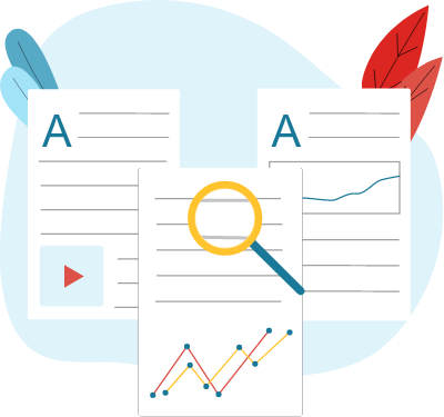 Content development illustration for high search rankings